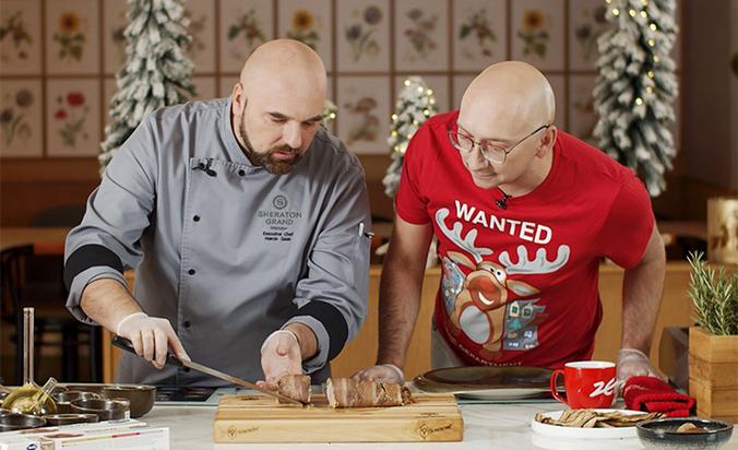 Poradnik Kulinarny Radia ZET z Kamilem Noselem - świąteczna polędwiczka z grzybami